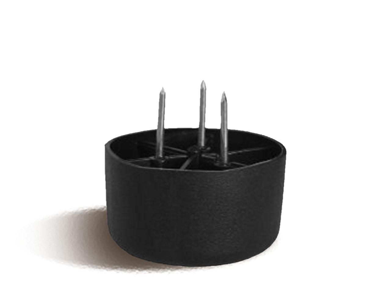 Мебельная опора с круглой основой и 3 металлическими стержнеми