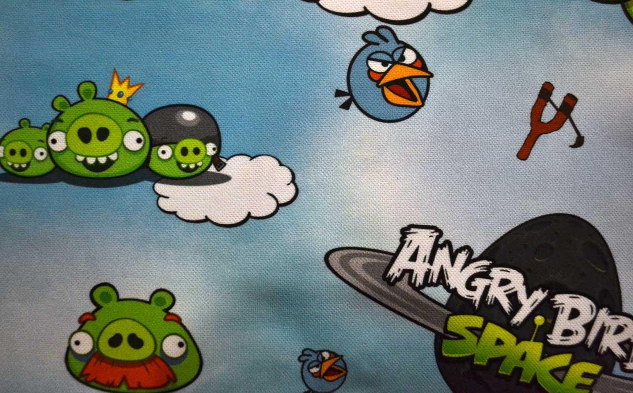 Велюр детский Angry Birds