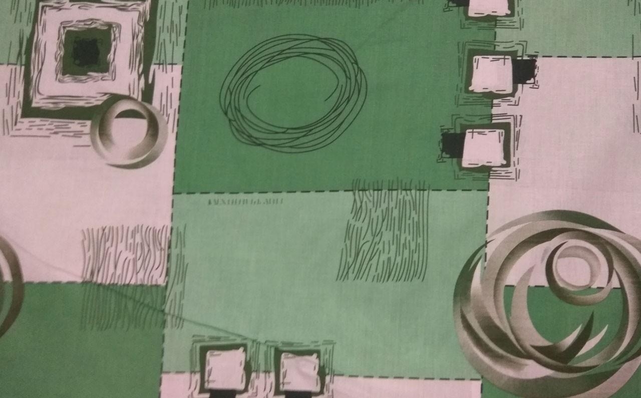 Бязь Зеленые квадраты
