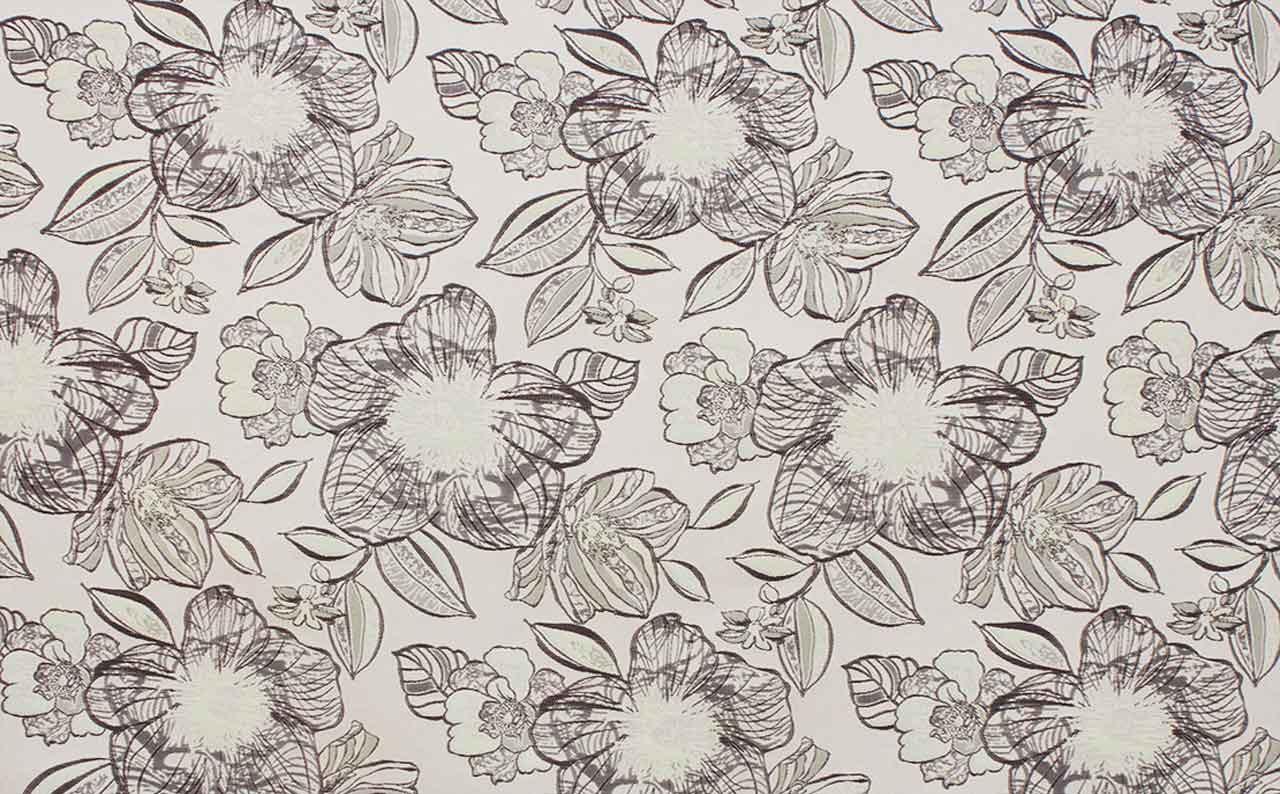 Мебельная ткань жаккард Jasmin Flowers Beige