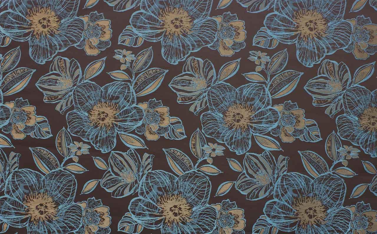 Жаккард Jasmin Flowers Blue