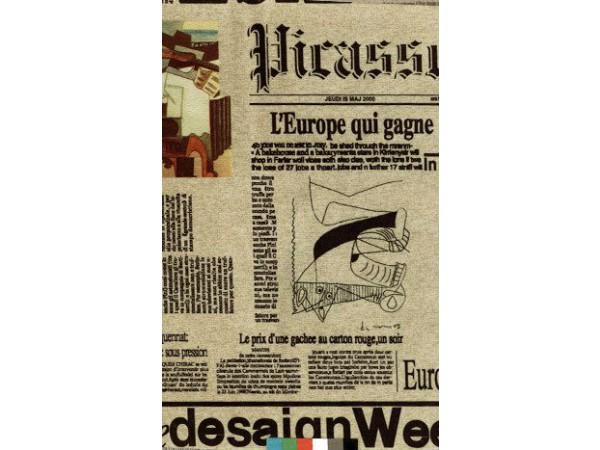ткань мебельная с принтом газета