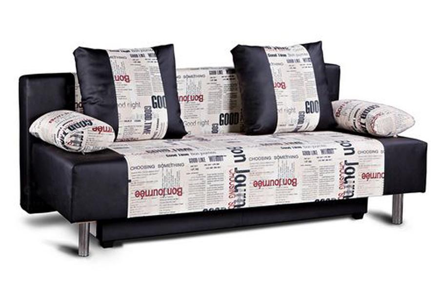 диван с принтом газета