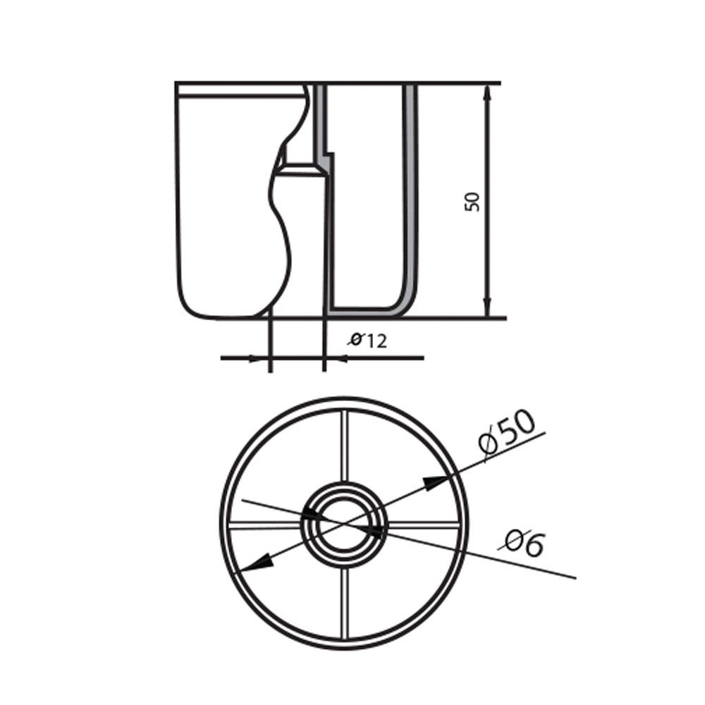 Опора мебельная пластиковая круглая Ф.311.028
