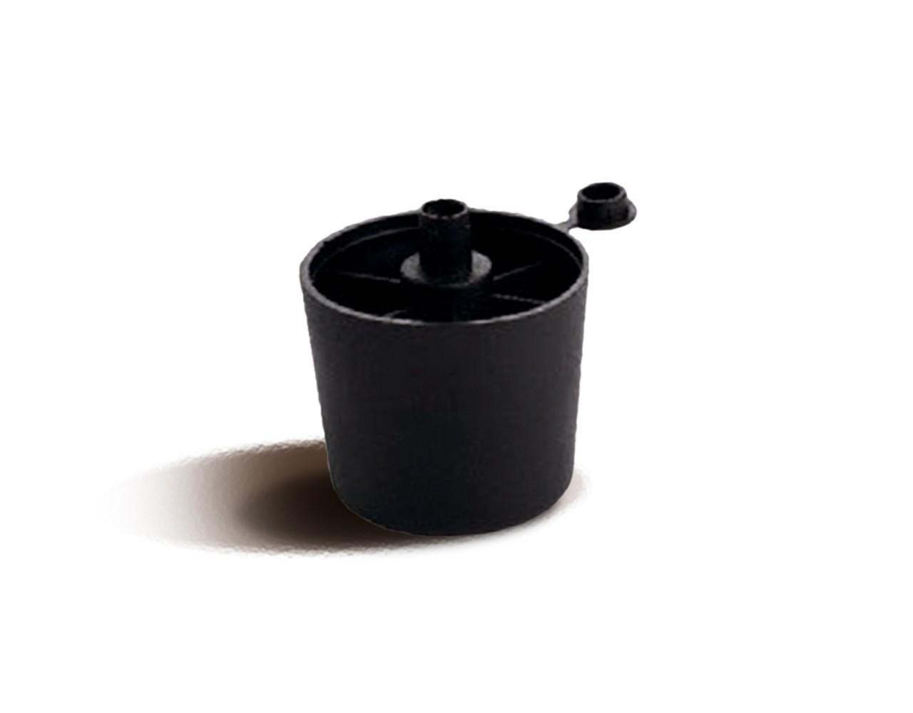 Мебельная опора пластиковая цвет - черный