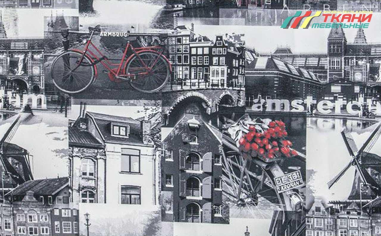 Мебельная ткань с принтом Amsterdam Grafim