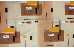 Бежевая с коричневыми рисунками
