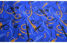 Неоплан синий автовелюр