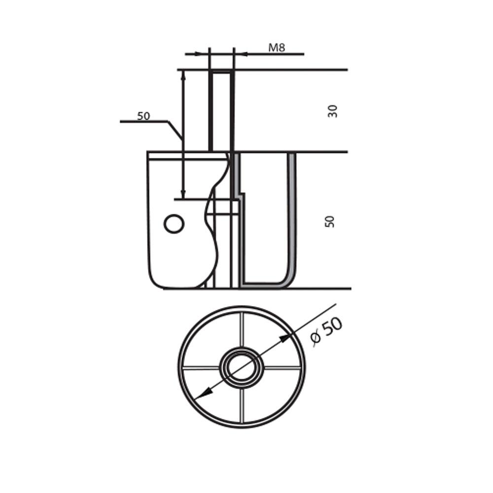 мебельная опора круглая черная Ф.311.027